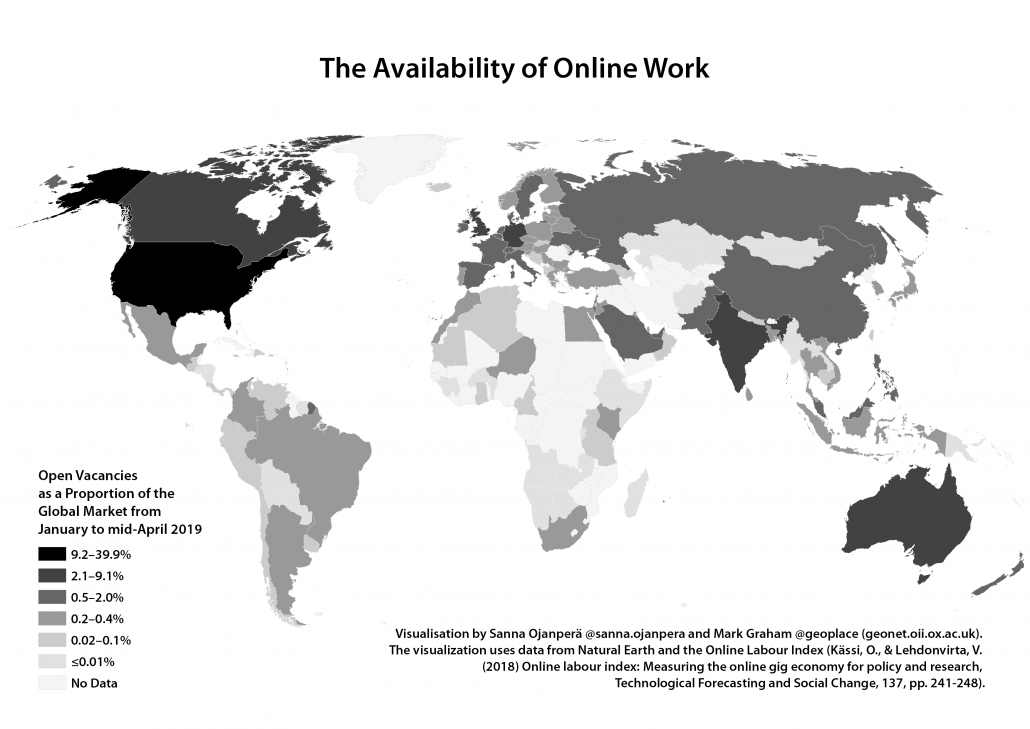 Mapping the Availability of Online Labour in 2019
